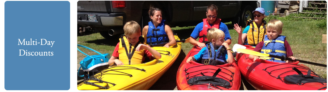 Midcoast Kayak Multi-Day Rates